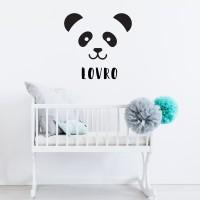 Nalepka panda z imenom