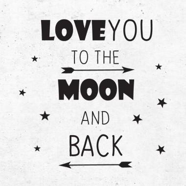 Nalepka Love to the moon