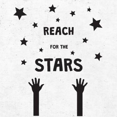 Nalepka Reach for the stars