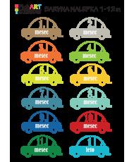 Mesečne nalepke - avtomobilčki
