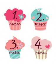 Mesečne nalepke - Cupcake