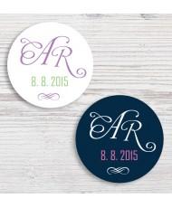 Personalizirane poročne nalepke TREND