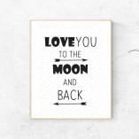 Print Love to the moon - barva po izbiri