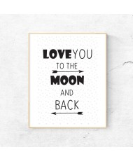 Print Love to the moon - barva po izbiri