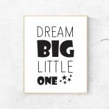 Print Dream big  - barva po izbiri